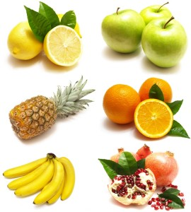 diet fruits assortment