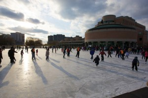 Outdoor Skating Rink at the Markham Civic Centre
