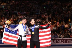 Zhou puts on a show at ice skating World Championships